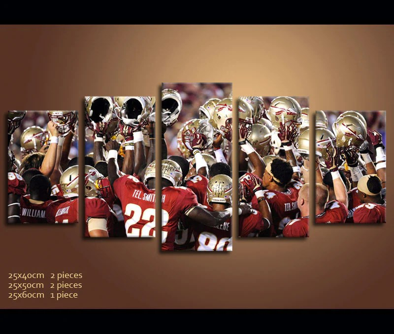 Piece Canvas Art Fsu Football Canvas Wall Art Decor Awesomever ...