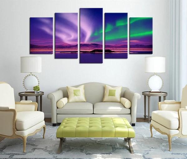 5 pieces canvas art