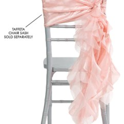 Chair Covers Rose Gold Office Slipcover Curly Willow Sashes Blush The Cinderella House