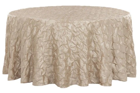 chair cover rentals dc steel manufacturers in delhi pinched wheel taffeta round table linens champagne the