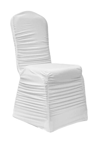 ruched chair covers foldable wooden chairs banquet cover red the cinderella house