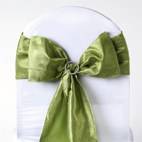 chair covers sage green indian rosewood chairs crinkle taffeta sashes the cinderella house