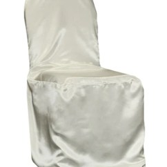 Chair Covers Ivory Parsons Seat Satin Banquet Cover The Cinderella House