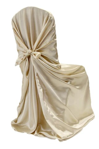 gold universal chair covers foam for chairs self tie satin antique the
