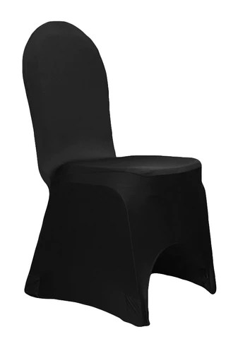 chair cover and tablecloth rentals formica table chairs spandex stretch covers black the cinderella house