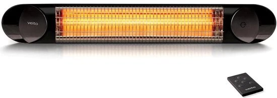 2 5kw veito blade s2500 electric carbon infrared patio heater black
