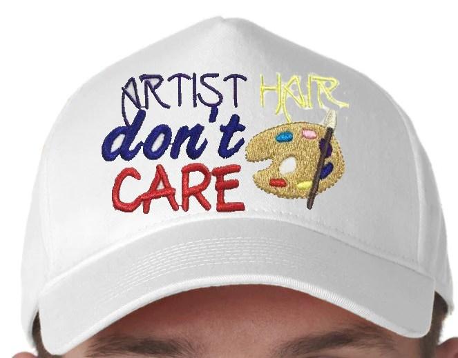 artist hair don't care baseball