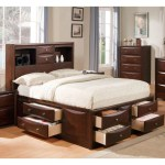 Acme Manhattan California King Bed W Storage Espresso 04064ck Hipbeds Com