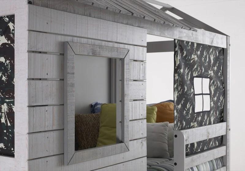 LOWEST PRICE Donco Kids Deer Blind Bunk Loft Bed Light