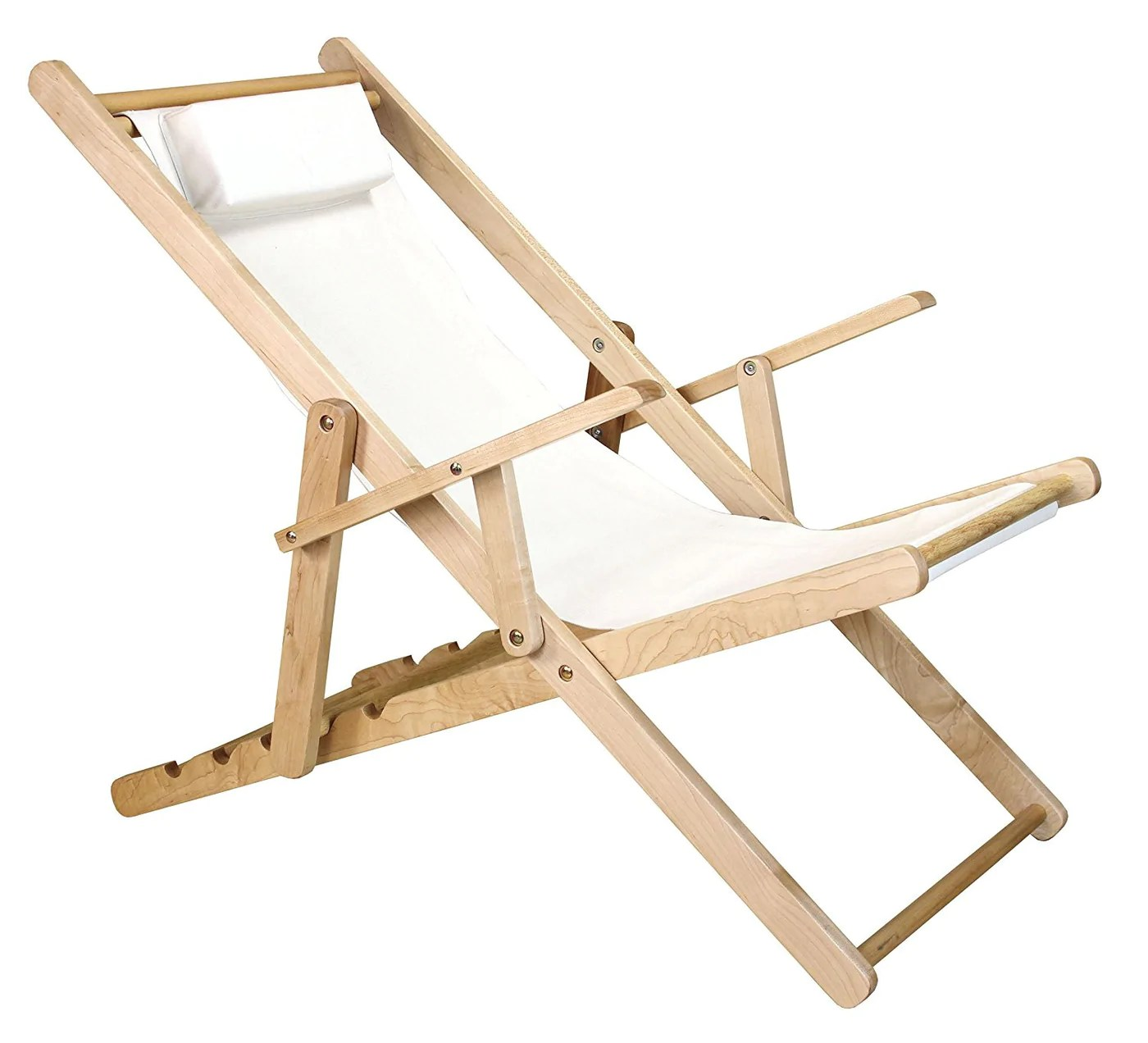 canvas sling chair creeper that turns into a casual home natural frame red 114 00 011 11
