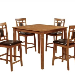 Light Oak Dining Chairs Minnie Mouse Desk Chair Furniture Of America Alonso 5pk Counter Height Set Hipbeds