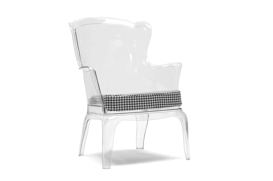 transparent polycarbonate chairs outdoor reading chair baxton studio tasha clear modern accent hipbeds com