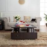 Furniture Of America Dolphina Multi Storage Square Coffee Table Espresso Hipbeds Com