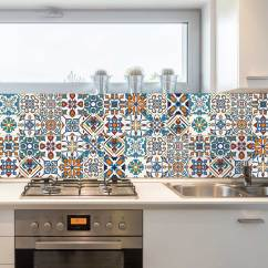 Art For Kitchen Island With Trash Can Decorative Tiles Stickers Motril Pack Of 16 Tile Decals Royalwallskins