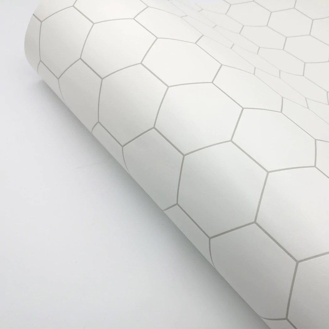 peel and stick pvc foaming wallpaper hexagon tile ambila 19 6