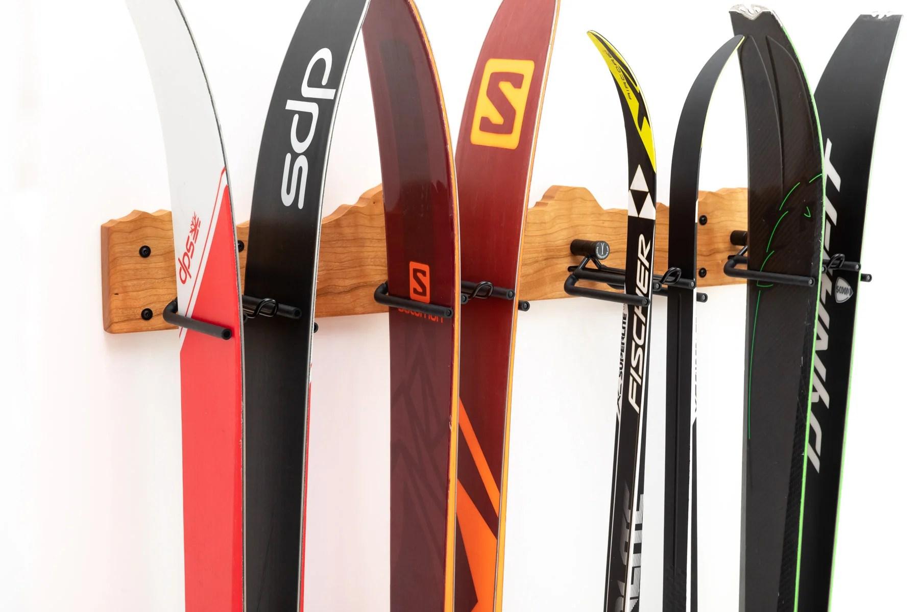 rocker ski rack ski board storage for your home garage or cabin