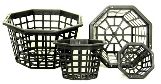 octagonal plastic baskets