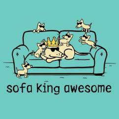 Sofa King Awesome T Shirt Modular Bed Lounge Ladies V Neck Teddy The Dog