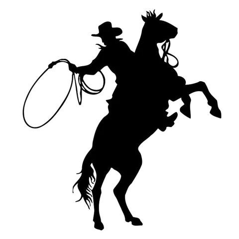 rodeo cowboy silhouette vinyl