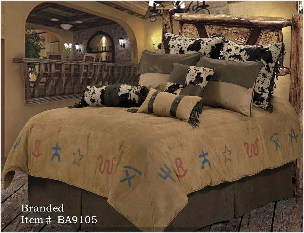 Rwba9105 Sq Quot Branded Quot Western 5 Piece Bedding Set