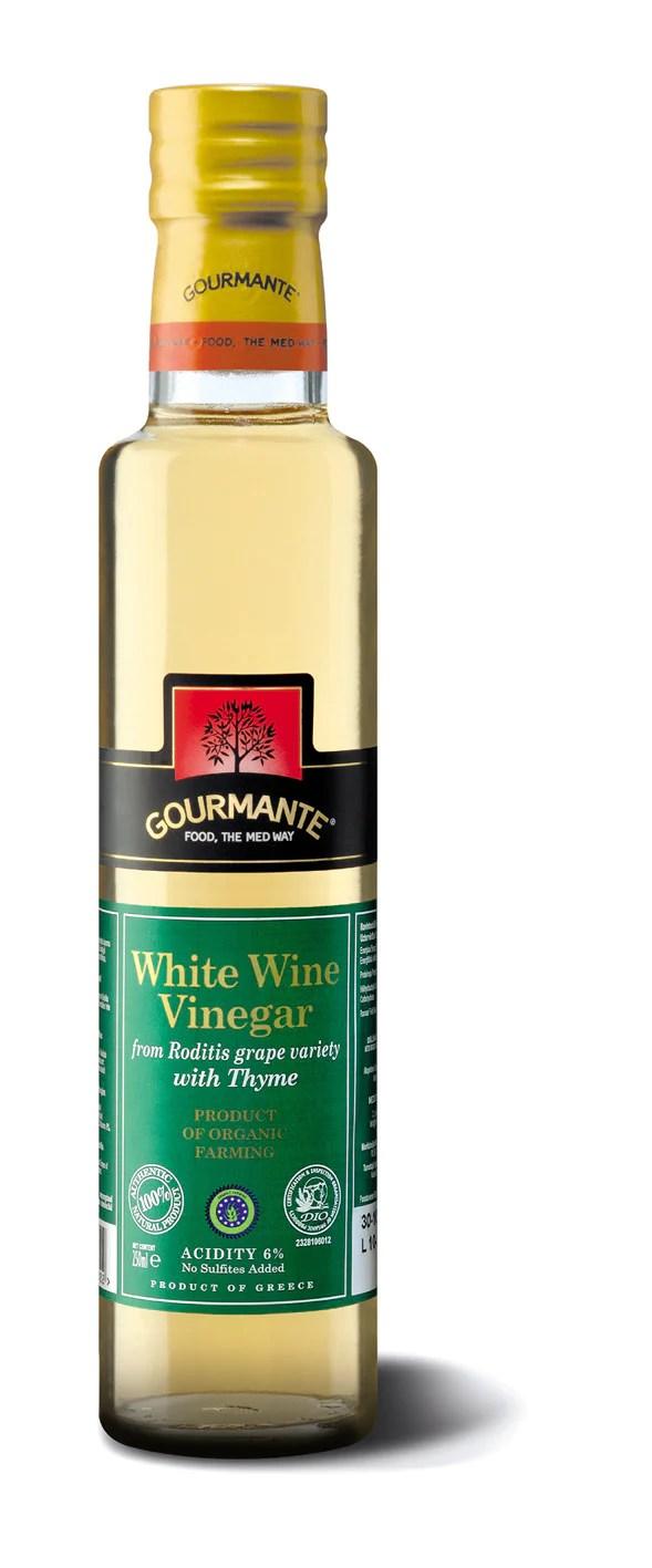 Gourmante BIO White Wine Vinegar with Thyme 250ml ...