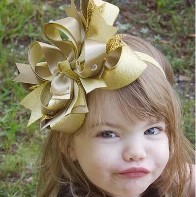 fancy large metallic gold girls
