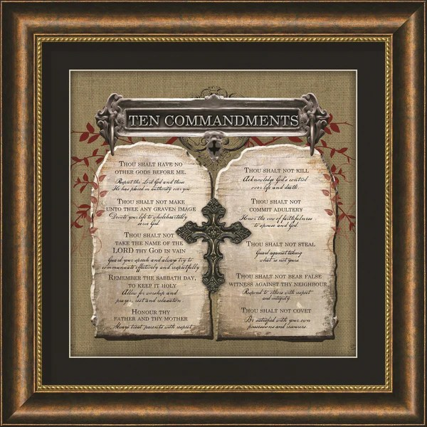 Ten Commandments Framed Art  Carpentree