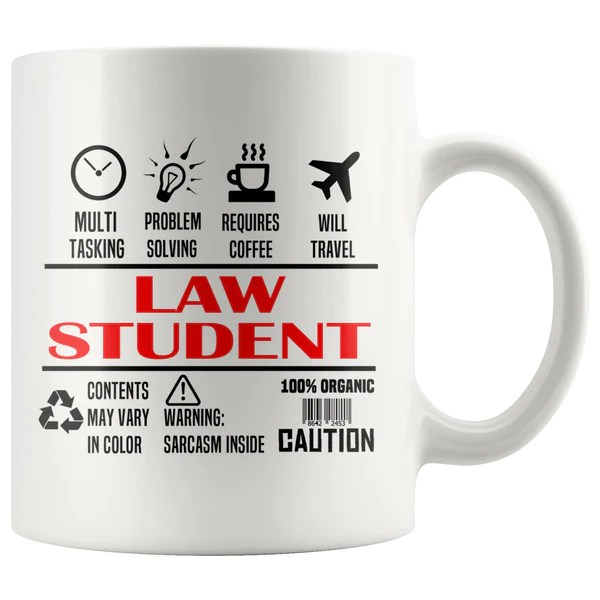 Law Student Unique Gifts For Law School Students White