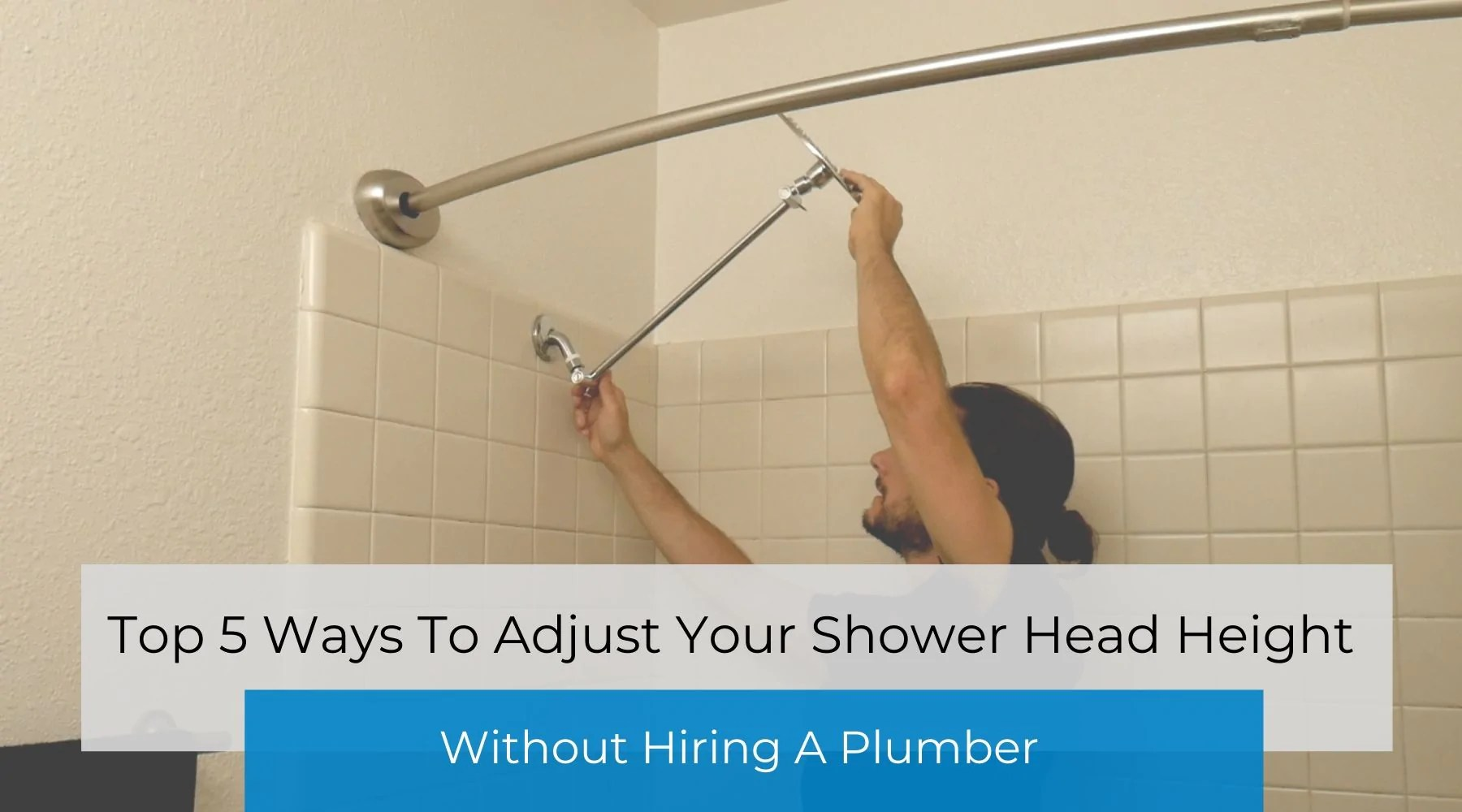 adjustable height shower head without