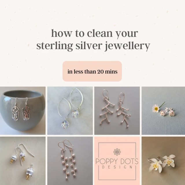 """BLOG – Tagged """"how to clean sterling silver earrings"""" – Poppy Dots"""