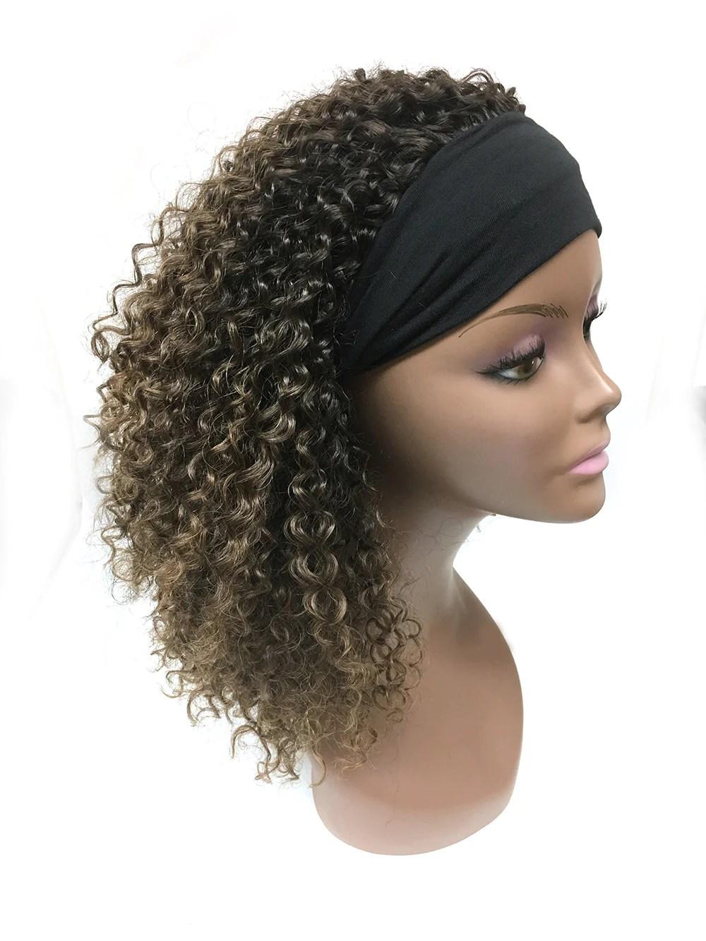 Head Band Half Wig - 100% Human Hair Tight Kinky Wave