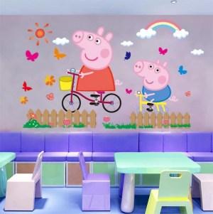pig peppa wall stickers