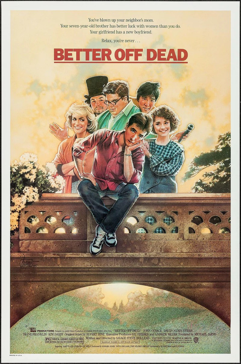 Image result for better off dead poster