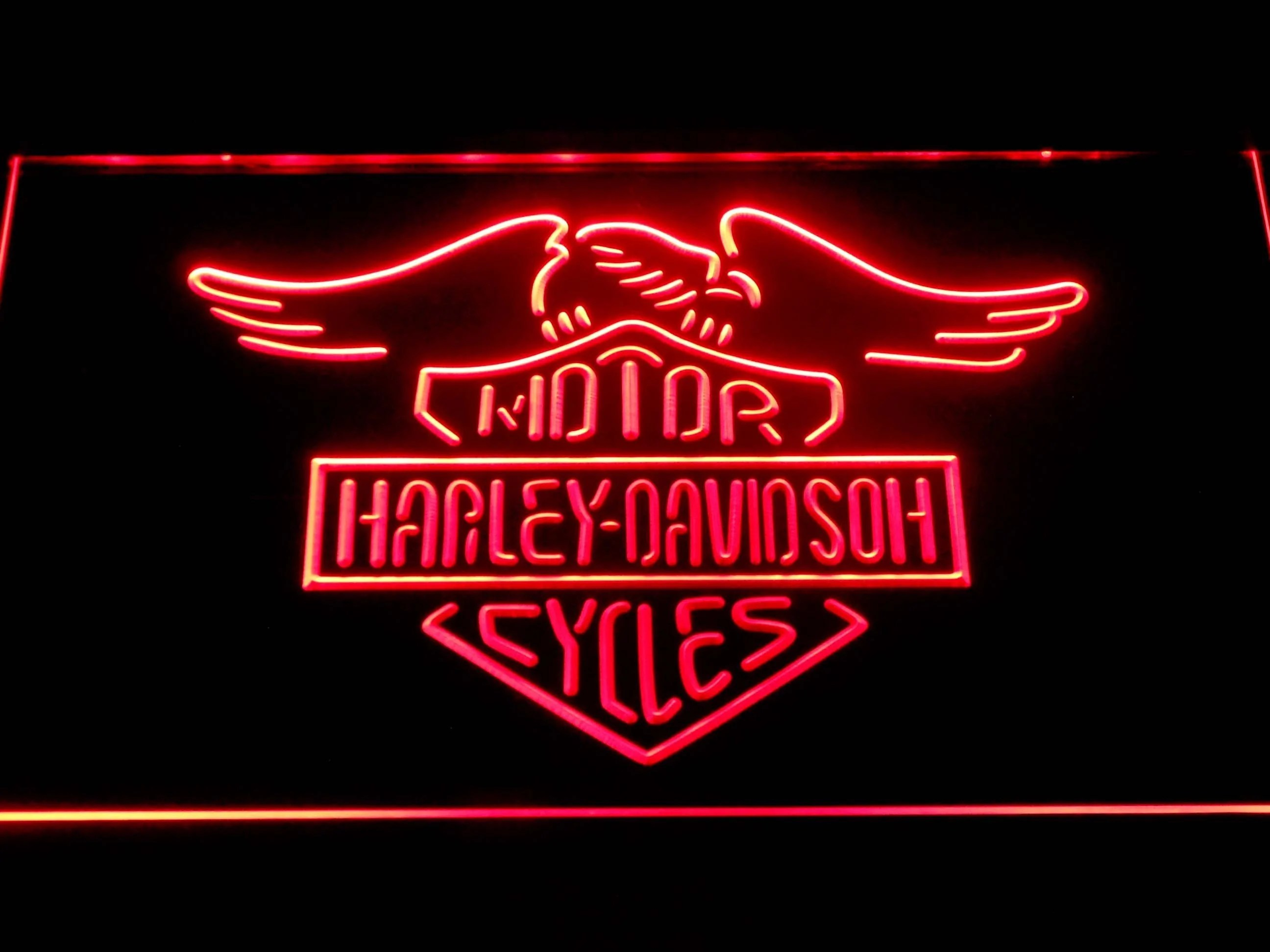 Harley Davidson Motorcycles Led Neon Sign Safespecial