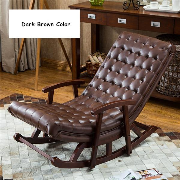 lounge chair living room furniture harley davidson themed buy modern leather wood rocking armchair 512 58 bedroom comfortable relax rocker