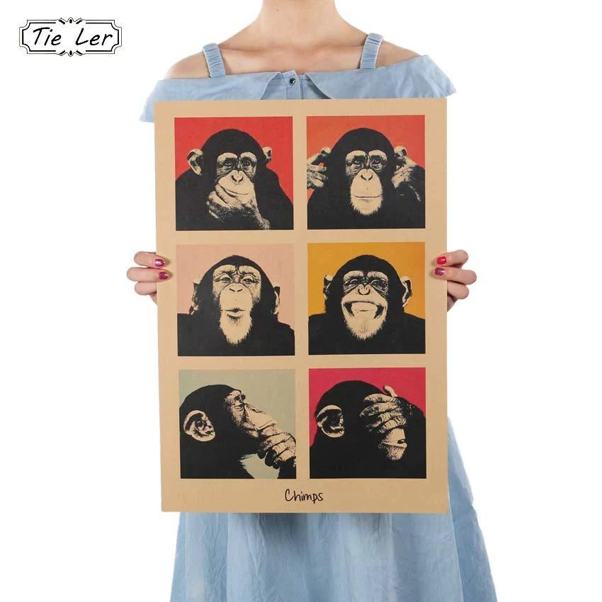 vintage posters for kitchen 3 piece appliance set buy tie ler poster gorilla wall stickers retro kraft 0 62 paper movie