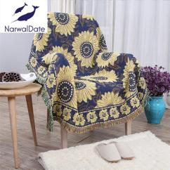 Bohemian Sofa Bed White Leatherette Buy Flower Three Layers Blanket Slipcover Throws On 87 98 99
