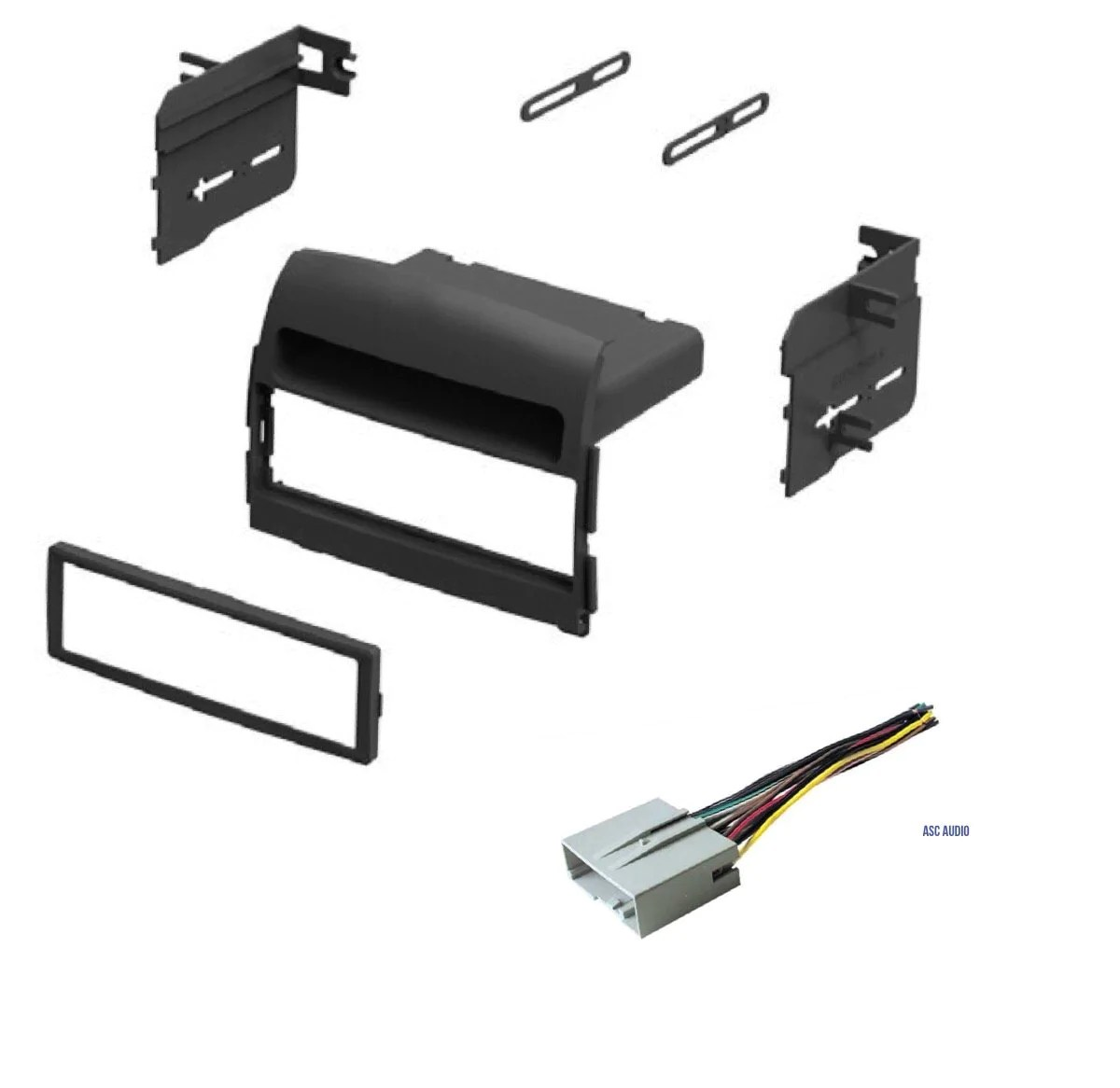 hight resolution of car stereo install dash kit and wire harness for installing an aftermarket single din radio for 2