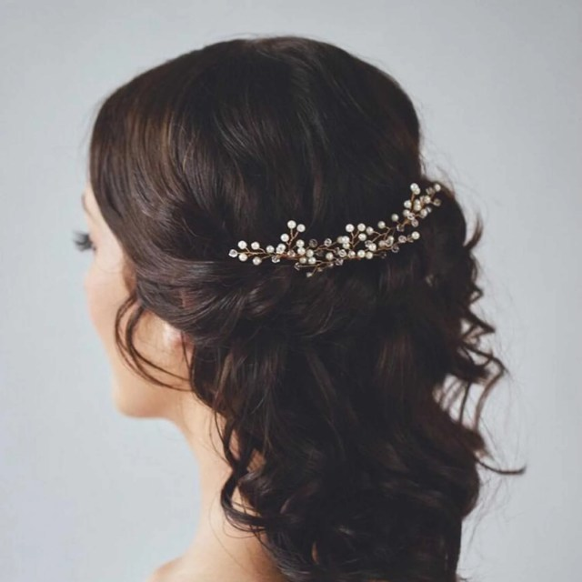 unicra bridal wedding hair pins and hair accessories for women and girls (pack of 3)