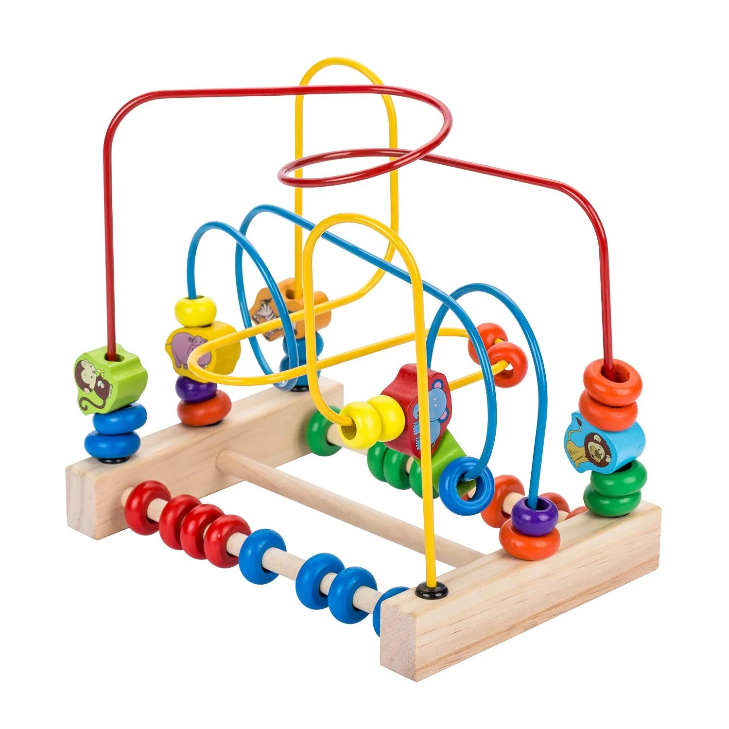 Other Toys Komorebi Wooden Animal Beads Maze Game