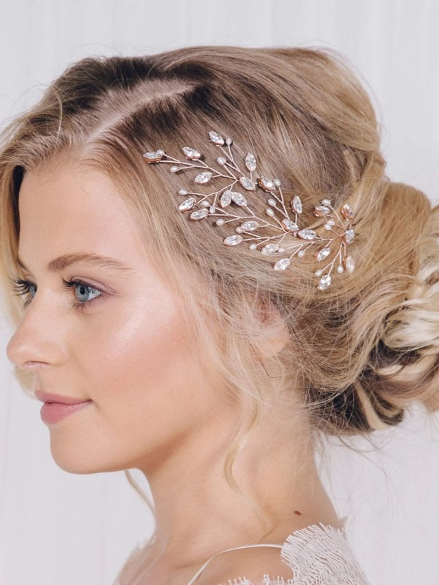 fxmimior bridal hair accessories pearl crystal hair pins hair clips bobby pin wedding party eveni