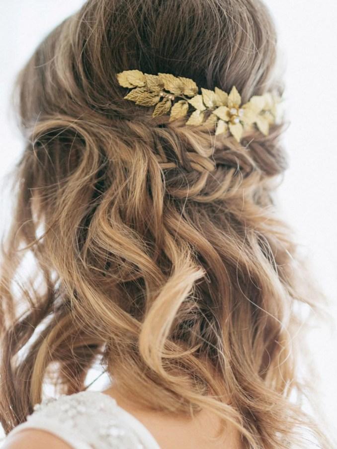 yean wedding hair comb leaf hair comb bridal leaves hair clips hair  accessories for bride and bri