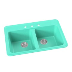 Colored Kitchen Sinks Blum Bins In Stock Colorful Whyte Company Double Bowl Drop Retro Sink 33 Harry Breakfast At