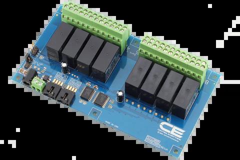 dpdt relay wiring diagram 2006 chrysler 300c radio 8 channel controller for i2c raspberry pi 2 board
