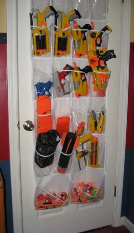 Easy Nerf Storage Solution Shoe Rack