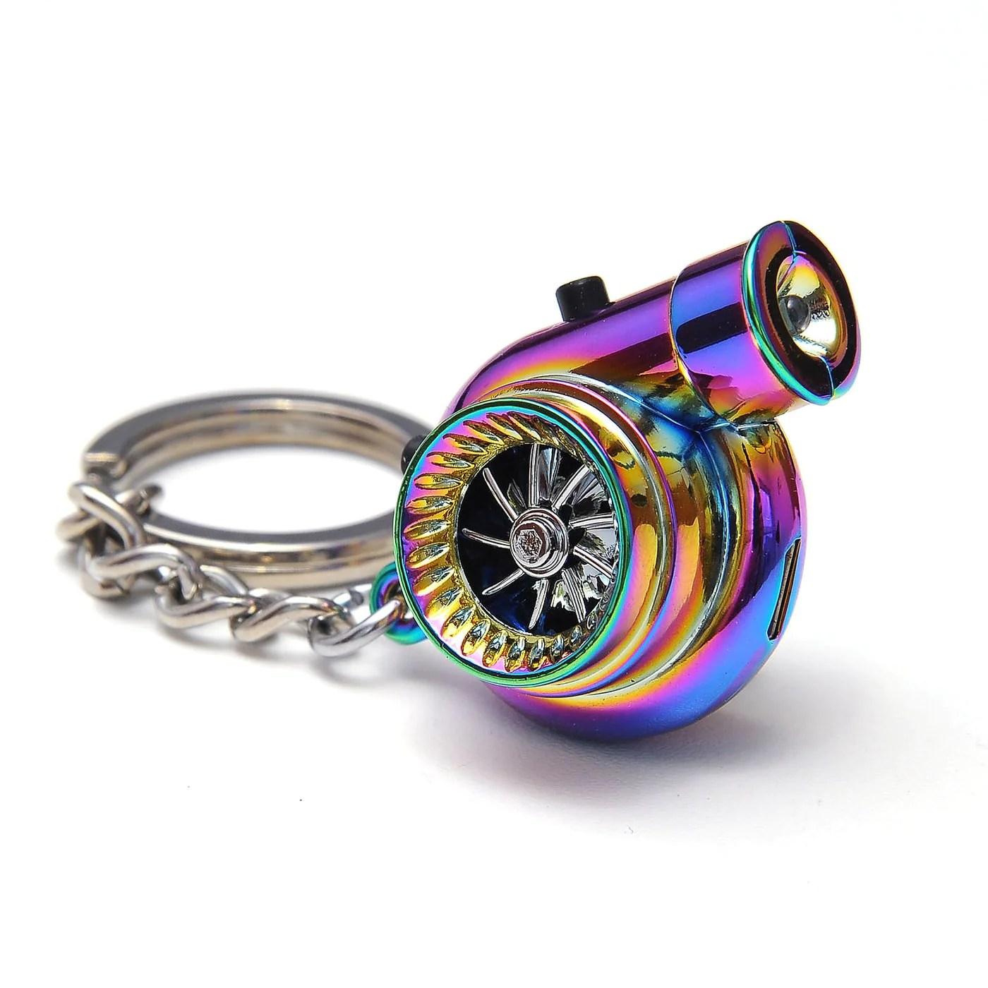 electronic spinning turbo keychain