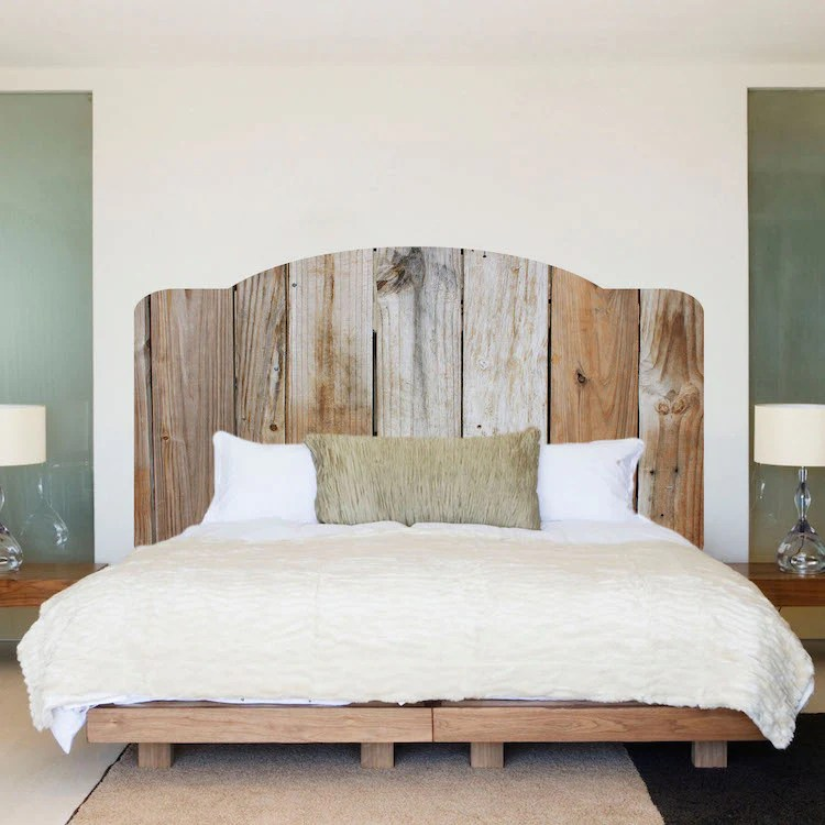Rustic Headboard Wall Decal Bedroom Decor For Apartment Dorms Removabl American Wall Designs