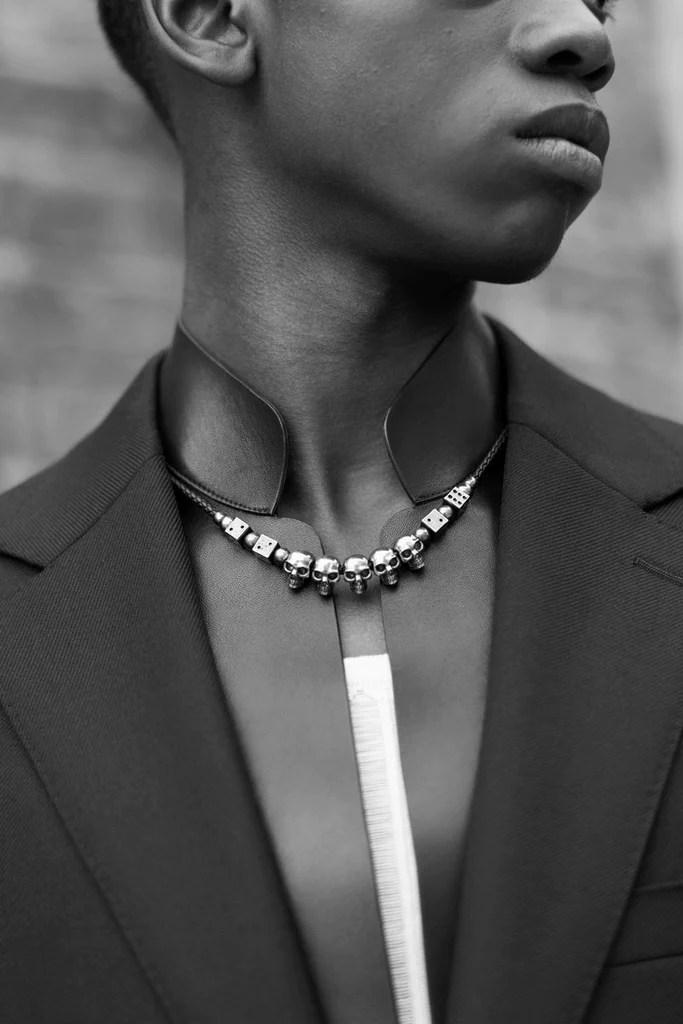 Asap Rocky Jewellery : rocky, jewellery, Rocky, Choker, Skull, Deluxe, Necklace, Bijouterie, Gonin