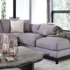 Grey Tweed Sectional Sofa Bed Sets 3 2 Capsule Home Kellan 1011ftgryr Right Chaise In