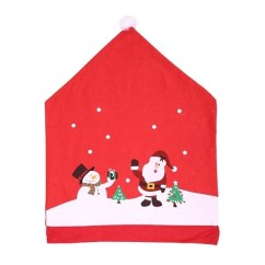 Chair Covers New Year Outdoor Hanging Lounge 1 Pcs Home Decoration Santa Claus Christmas Cover Diy Cap